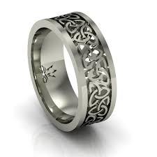 mens celtic rings 14k white gold men s solid knot wedding ring 7 2mm for a
