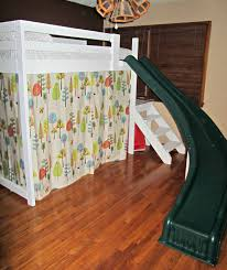 camp loft bed with stairs slide and fort diy projects
