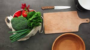 Kitchen Table Accessories by Vegetables Blank Paper With Space For Recipe And Cutting Board