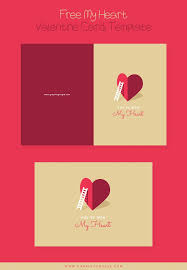 free my heart valentine card template brochures and flyers