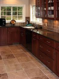 what color floor with cherry cabinets color kitchen tiles kitchens with grey floors tile cherry cabinets