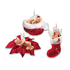 christmas ornament sets sleeping baby christmas tree ornament collection santas