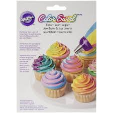 how to decorate cupcakes at home amazon com wilton colorswirl 3 color coupler 411 1992 kitchen