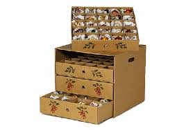 Christmas Decorations Storage Bins by Innovative Cardboard Storage Boxes With Drawers Cardboard Cube