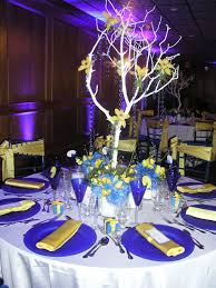 theme wedding centerpieces wedding ideas starry wedding centerpieces blue and yellow