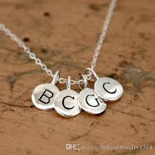 customize necklace wholesale customize tiny alphabet letter personalized
