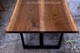 live edge table chicago bookmatched black walnut live edge table with welded black steel tri
