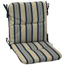 Navy Blue Patio Chair Cushions Shop Garden Treasures 36 5 In L X 19 5 In W Stripe Navy Blue Patio