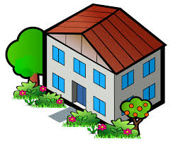 clipart iso city grey house 4