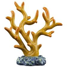 tetra glofish orange coral ornament petsuppliesplus
