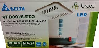 Humidity Sensing Bathroom Fan With Light by Delta Breez Vfb80hled2 Ventilation With Humidity Sensor Led Light