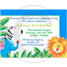 jungle birthday invitations ideas birthday party supplies party