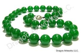 jade beads necklace images Chinese auspicious green jade necklace jpg