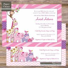 free printable baby shower invitations for girls home design