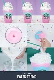 starbucks unicorn frappuccino recipe popsugar food