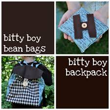 Patterns For A Baby Bean Bag Bitty Boy Bean Bags And Backpack Moda Bake Shop