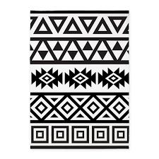 Aztec Design Rugs Aztec Influence Ptn B U0026w 5 U0027x7 U0027area Rug By Rethnic