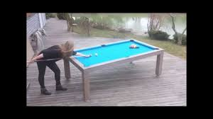 Dining Table Pool Vision Outdoor U2013 Dual Purpose Pool Dining Table For Outdoor Youtube