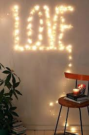 bedroom twinkle lights frame your bedrooms accent wall in string lights to really make