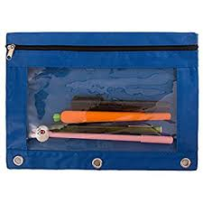 pencil pouch hitop zippered binder transparent high capacity pencil
