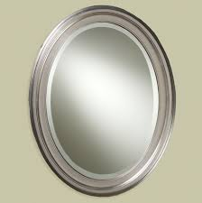 Oval Bathroom Mirrors Brushed Nickel Oval Bathroom Vanity Mirrors Home Design Ideas