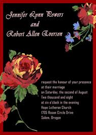 Red And Black Wedding Invitations Elegant Rose Wedding Invitations Ewi036 As Low As 0 94