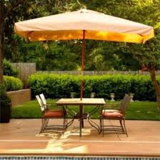 rectangular umbrellas patioliving rectangular patio umbrella in