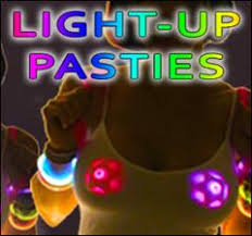 led light up pasties light up color changing led pastie shamrock clover bewild