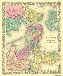 Suffolk County Massachusetts Maps And Old City Map Boston Adjacent Area Massachusetts 1855