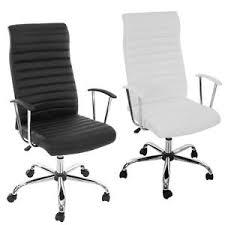 chaise noir et blanc fauteuil chaise de bureau cagliari ergonomique simili cuir noir