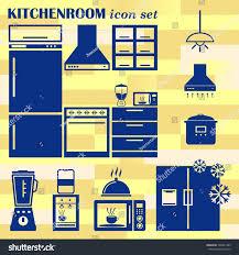 home interior design icon kitchen icon stock vector 506541385
