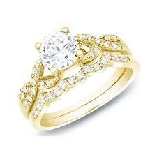 bridal ring sets 1 carat cut diamond women bridal ring set withfeelings