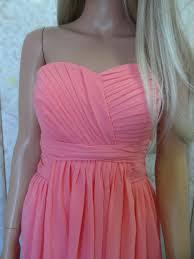 long strapless chiffon bridesmaid dresses