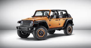 jeep wrangler modified 2015 iaa mopar showcases three modified jeep concepts