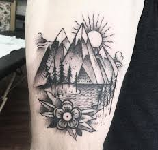 100 mountain tattoos nice mountain tattoo on wrist with