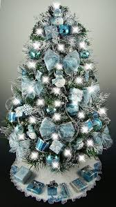 Tabletop Christmas Tree Decorating Ideas by Mesmerizing Blue Christmas Tree Decoration Ideas Christmas