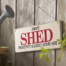 Shed Style Personalised Vintage Style Shed Sign By Delightful Living