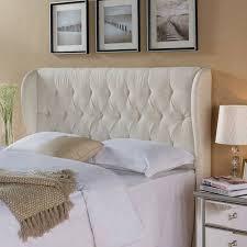 Linen Upholstered King Headboard Better Homes And Gardens Scalloped Wingback Tufted Upholstered