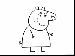 magnificent peppa pig rebecca rabbit coloring pages with peppa pig