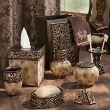 Accents Home Decor Croscill Argosy Bath Collection Marbled Mocha With Sculpted