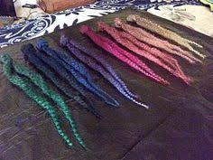 can i dye marley hair dying synthetic hair w speedball acrylic ink diy crafts