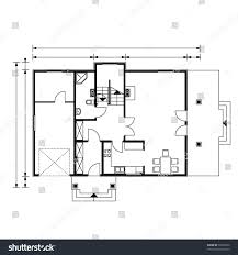 project house blackandwhite color ground floor stock vector