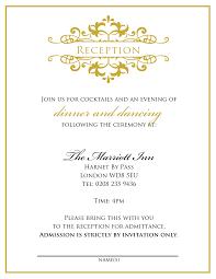 appealing wedding reception invitation card wording wedding party