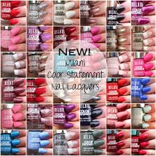 milani color statement nail lacquers swatches www beingmelody com
