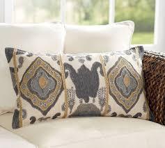 chiara ikat lumbar pillow cover pottery barn