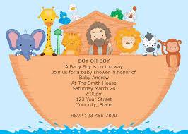 noah ark baby shower noah s ark baby shower invitations noahs ark baby shower