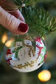handprint snowman ornament so happies for the holidays