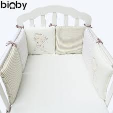 Baby Nursery Bedding Sets 6pcs Set Baby Infant Cot Crib Bumper Safety Protector Toddler