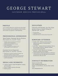 Sample Resume For Customer Service Supervisor by Navy Blue Simple Customer Service Resume Templates By Canva