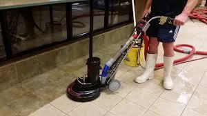 Tile Floor Scrubbing Machine Rotovac 360xl Tile Floor Cleaning Youtube